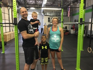 Fitness is a family endeavor for Paul McBride and Hannah Swim.